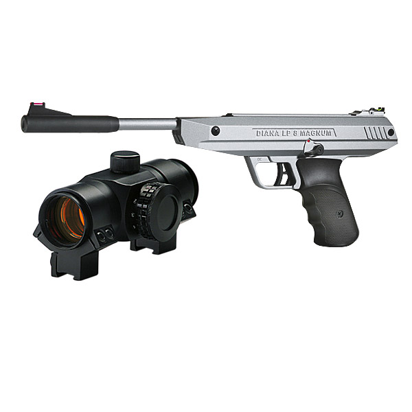 D1308MS-RD LP8 Magnum Silver Red Dot